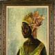 ナイジェリア人美術作家ベン・エンウォンウ作の肖像画「クリスティーン」。英サザビーズ提供(2019年10月15日提供)。(c)AFP=時事/AFPBB News
