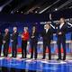 民主党候補者らの3度目の討論会が行われた/Justin Sullivan/Getty Images North America/Getty Images