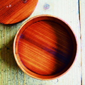 丸い木製弁当