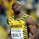 男子100m・決勝にて。  写真は、9秒77で優勝したボルト(ジャマイカ)。  (撮影:フォート・キシモト)  [2013年8月11日、ルジニキ・スタジアム/モスクワ/ロシア]
