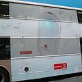 広告にあふれる香港の街中、2階建てバスの広告にもモバイルブロ
