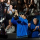 男子テニスの欧州チームとワールドチームの対抗戦、レーバー・カップ最終日。拍手する欧州チームのラファエル・ナダル(2019年9月22日撮影)。(c)Fabrice COFFRINI / AFP