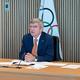 12日、オンラインで行われた理事会で話をする国際オリンピック委員会(IOC)のトーマス・バッハ会長=IOC提供