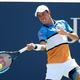 男子テニスのシーズン最終戦、ATPワールドツアー・ファイナルズの出場権を争う錦織圭(2019年8月30日撮影、資料写真)。(c)Al Bello/Getty Images/AFP