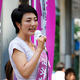 参院選で街頭演説する河井案里被告=2019年7月6日、広島市中区
