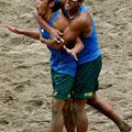 格別の優勝だった井上真弥(左)長谷川徳海(右)。ビーチバレー