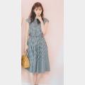 ギンガムチェックトップスとスカートのセット 14,000円+税/No