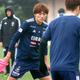 トレーニングに励む横浜FMのDF松原健(カメラ・小口 瑞乃