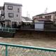 大雨の影響で崩落した東除川の護岸=19日夕、大阪府羽曳野市(住民提供)