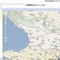 じつはグルジアも、ほとんど地図情報が表示されない地域だ