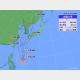 30日午前9時の台風9号の位置と進路予想。