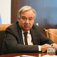 国連のグテーレス事務総長=2019年8月23日、米ニューヨークの国連本部、藤原学思撮影