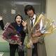 「ストロベリーナイト・サーガ」のクランクアップを迎えた二階堂ふみ(写真左)と江口洋介/撮影=龍田浩之