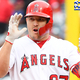 ANAHEIM, CA - MAY 26: Mike Trout #27 of the Los Angeles Angels of Anaheim on second after hitting a RBI double in the seventh inning of the game against the Texas Rangers at Angel Stadium of Anaheim on May 26, 2019 in Anaheim, California. (Photo by Jayne Kamin-Oncea/Getty Images)