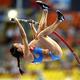 女子棒高跳・決勝にて。  世界記録保持者のエレーナ・イシンバエワ(ロシア)が4m89を跳び、3大会ぶり3度目の優勝を果たした。  (撮影:フォート・キシモト)  [2013年8月13日、ルジニキ・スタジアム/モスクワ/ロシア]