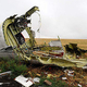 ウクライナで撃墜されたマレーシア航空機の残骸=2014年9月、東部ドネツク州(AFP時事)