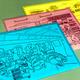 東海道新幹線「のぞみ」「ひかり」の車内で限定販売されている「鳥獣戯画」のクリアファイル=ジェイアール東海パッセンジャーズ提供