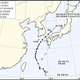 台風17号の進路(韓国気象庁提供)=(聯合ニュース)≪転載・転用禁止≫