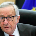 欧州連合(EU)のユンケル欧州委員長=16日、ブリュッセル(