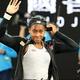 全豪オープンテニス、女子シングルス3回戦。勝利を喜ぶコリ・ガウフ(2020年1月24日撮影)。(c)DAVID GRAY / AFP