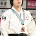 57kg級で3位に入った、山本杏 (2013年11月29日、撮影:二宮渉/