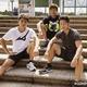走り込みキャンプを開始した井上尚弥(左)、拓真(右)、浩樹
