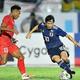 2019年9月10日のミャンマー戦では中島(10番)、南野のゴールで2−0で勝利を収めた日本代表。写真:金子拓弥(サッカーダイジェスト写真部)