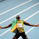 男子200m・決勝にて。  ウサイン・ボルト(ジャマイカ)は、今季世界最高の19秒66で、この種目初の3連覇を達成した。  (撮影:フォート・キシモト)  [2013年8月17日、ルジニキ・スタジアム/モスクワ/ロシア]