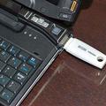 USBメモリーを接続したところ