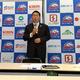 記者会見に臨んだ日本ポニーベースボール協会の広沢克実理事長