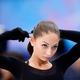 フィギュアスケートのグランプリ(GP)シリーズ、第6戦「NHK杯」から。  写真は開幕前日。公式練習にのぞむ、エレーネ・ゲデバニシビリ(グルジア)。 (撮影:フォート・キシモト)  [2012年11月22日、宮城・セキスイハイムスーパーアリーナ]