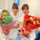 『白衣の戦士!』小松彩夏、山崎萌香とのクランクアップ写真公開「可愛いでしょ♪」