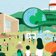2拠点時代にスマイルズで仕掛けた100本のスプーン公園プロジェクト(画像提供:中神さん)