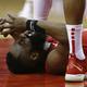 米プロバスケットボール(NBA)、ヒューストン・ロケッツのジェームス・ハーデン(2019年4月14日撮影、資料写真)。(c)Bob Levey/Getty Images/AFP