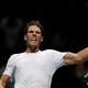 男子テニス、ATPワールドツアー・ファイナルズ4日目。勝利を喜ぶラファエル・ナダル(2019年11月13日撮影)。(c)Adrian DENNIS / AFP