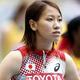 女子200m・予選にて。  福島は、23秒85の6着で予選敗退となった。  (撮影:フォート・キシモト)  [2013年8月15日、ルジニキ・スタジアム/モスクワ/ロシア]