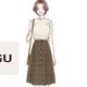 GU新作スカートは今買って秋にも使える優秀カラー!彼ウケ間違いなし♡高見えデートコーデ