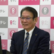 会見に出席した関西テレビの羽牟正一社長