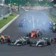 フォーミュラワン(F1、F1世界選手権)のレースに出走する各チームのマシン(2019年8月4日撮影)。(c)Attila KISBENEDEK / AFP
