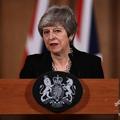 英ロンドンの首相官邸で演説するテリーザ・メイ首相(2019年4月2