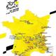 2020年ツール・ド・フランスのコース(2019年10月15日提供)。(c)AFP=時事/AFPBB News
