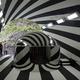 芸術作品に改修された第2見晴所=新潟県十日町市の清津峡渓谷トンネルで2021年4月29日午前8時31分、新井敦撮影