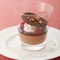 「チョコレートのグラスデザート」。見た目にもかわいらしい