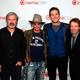『ローン・レンジャー』のプロモーションで来日するメンバー。左からゴア・ヴァービンスキー監督、ジョニー・デップ、アーミー・ハマー、ジェリー・ブラッカイマー