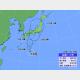 21日午後3時の台風12号の位置と進路予想。
