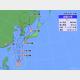 30日午後3時の台風9号の位置と進路予想。
