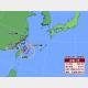 3日午前11時の台風4号の推定位置と24時間進路予想。