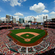 米大リーグ、セントルイス・カージナルスの本拠地ブッシュ・スタジアム(2017年4月19日撮影、資料写真)。(c)Jeff Curry/Getty Images/AFP
