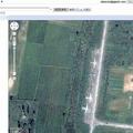 北朝鮮のとある地域。軍用機らしきものも見える