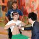 予備検診を行った田中恒成とジョナサン・ゴンサレス